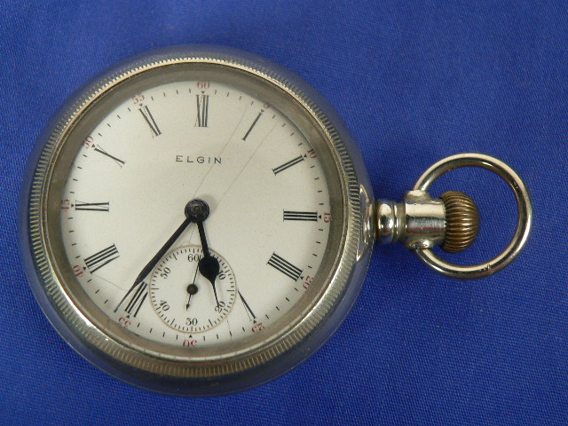 Antique Pocket Watch By Elgin National Watch Company Free Shipping